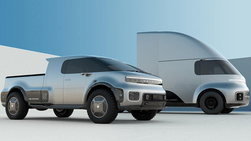 Neuron EV's T/One and Torq truck concepts