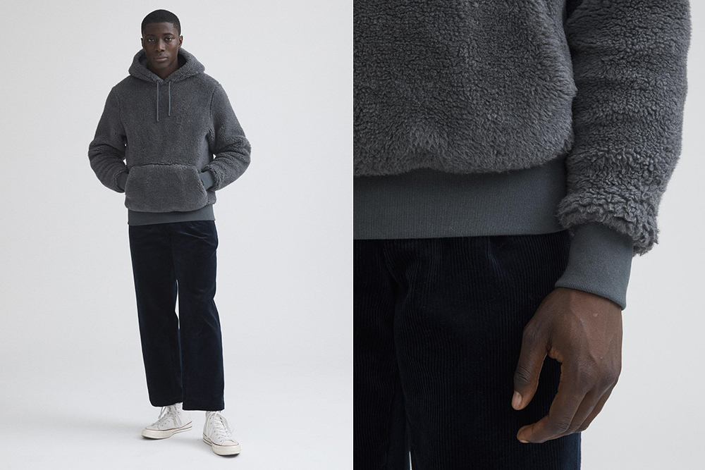 Noah's Wool Silk Deep Pile Hoodie is the coziest thing you'll wear this winter.