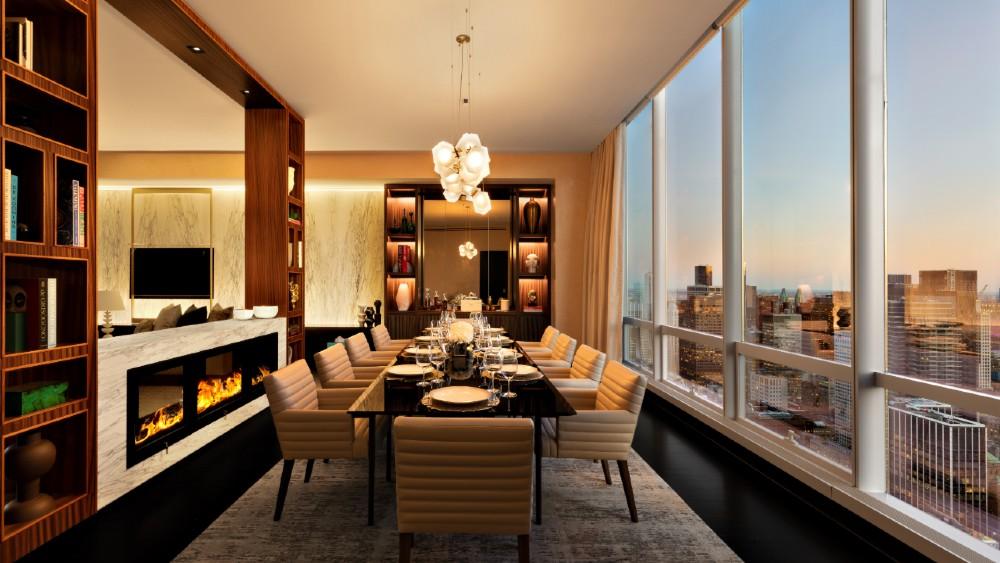 Park Hyatt New York Manhattan Sky Suite dining room