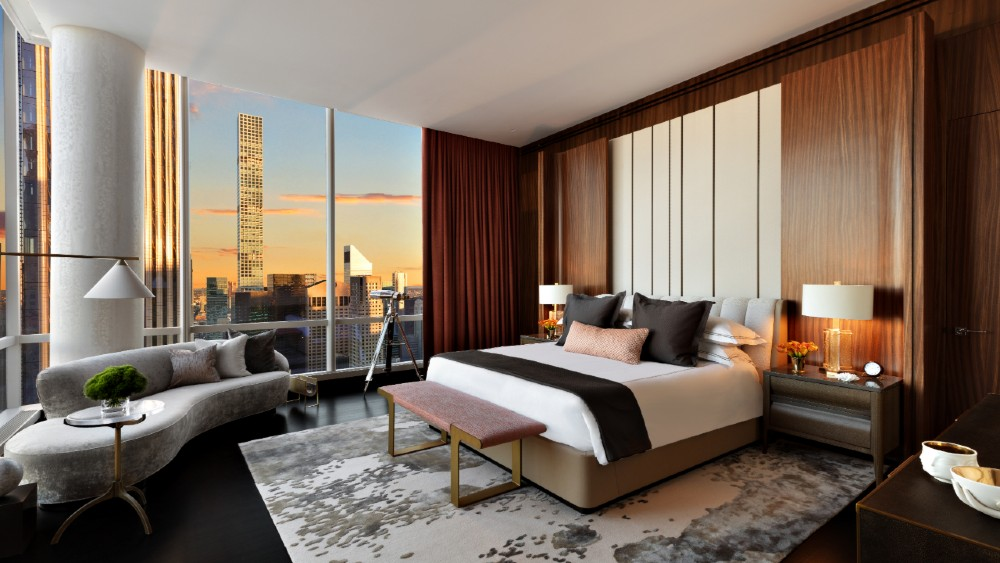 Park Hyatt New York Sky Suite Master Bedroom