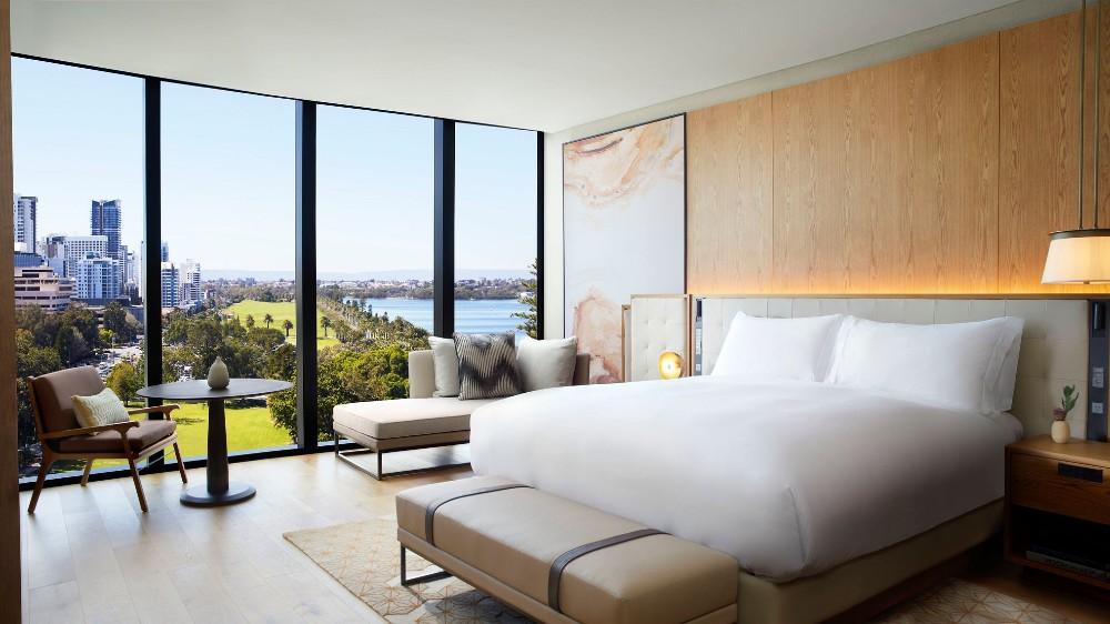 Ritz-Carlton Perth Australia bedroom