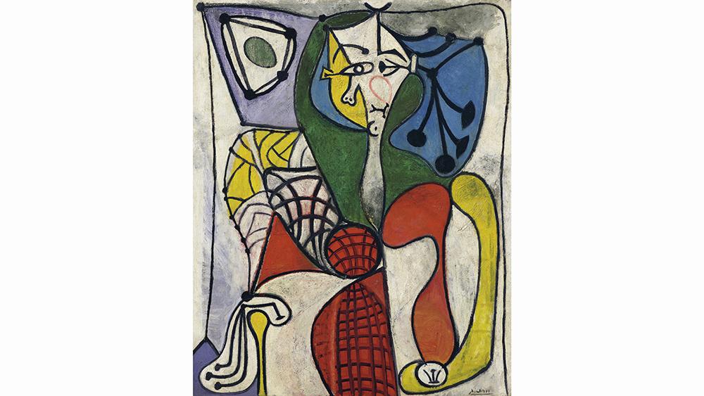 Pablo Picasso, Femme dans un fauteuil (Françoise) (Woman on a Couch [Françoise]), 1948–49, sold for $13.3 million at Christie's New York