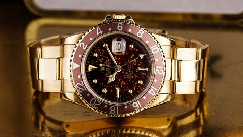 Craft and Tailored is offering a Rolex GMT Master from 1981 with a spotty tropical dial named the Hot Lava.