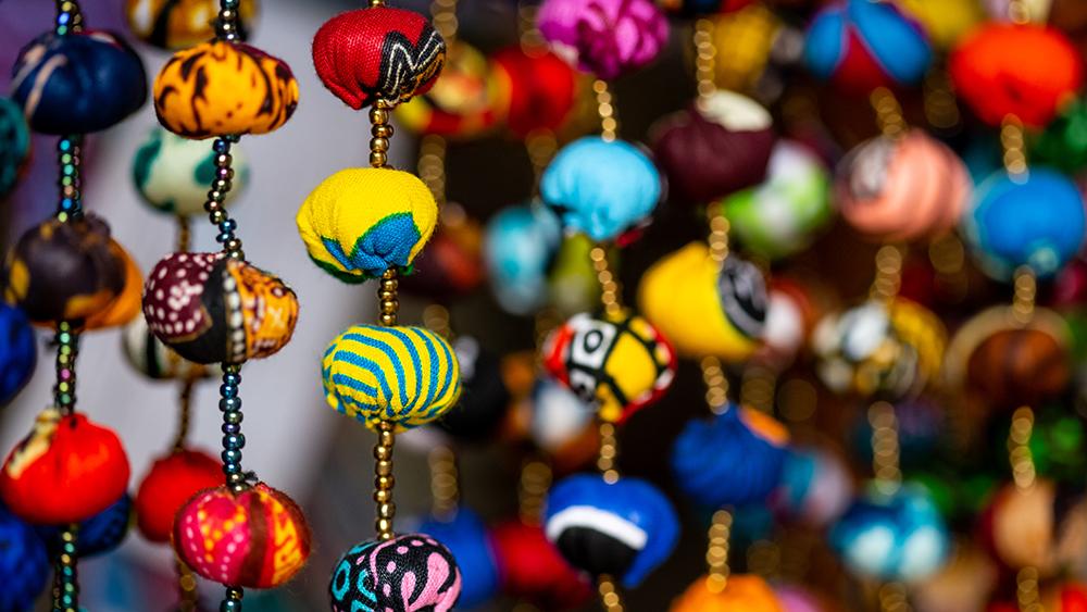 Beads in the local market in Rwanda