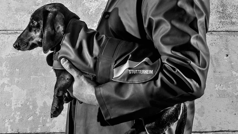 Stutterheim's new line of dog coats uses the same material as its human coats.