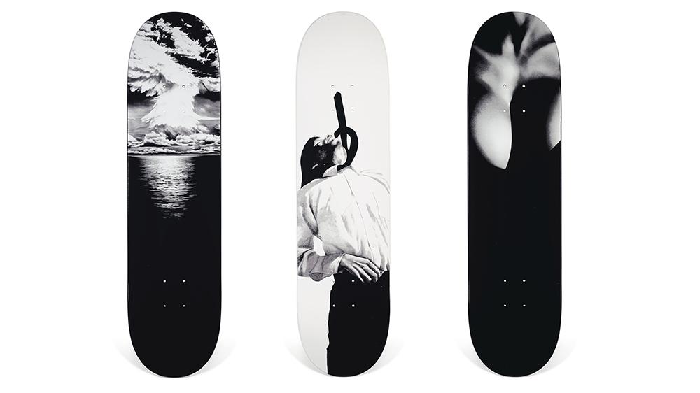 Supreme X Robert Longo skateboard deck set