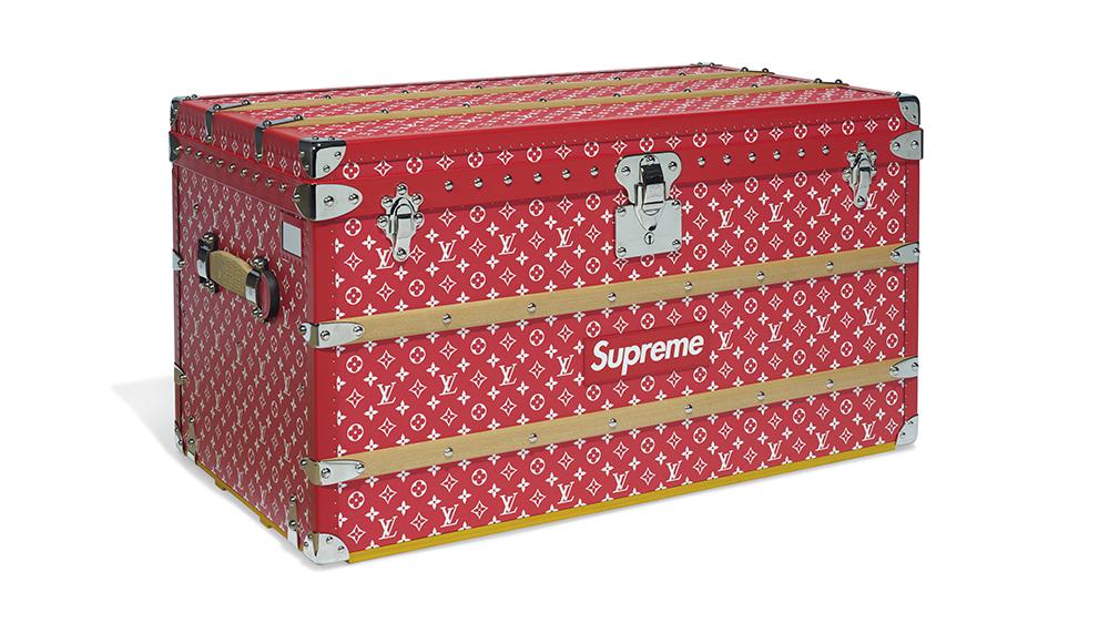 Supreme X Louis Vuitton Monogram Malle Courrier 90 Trunk