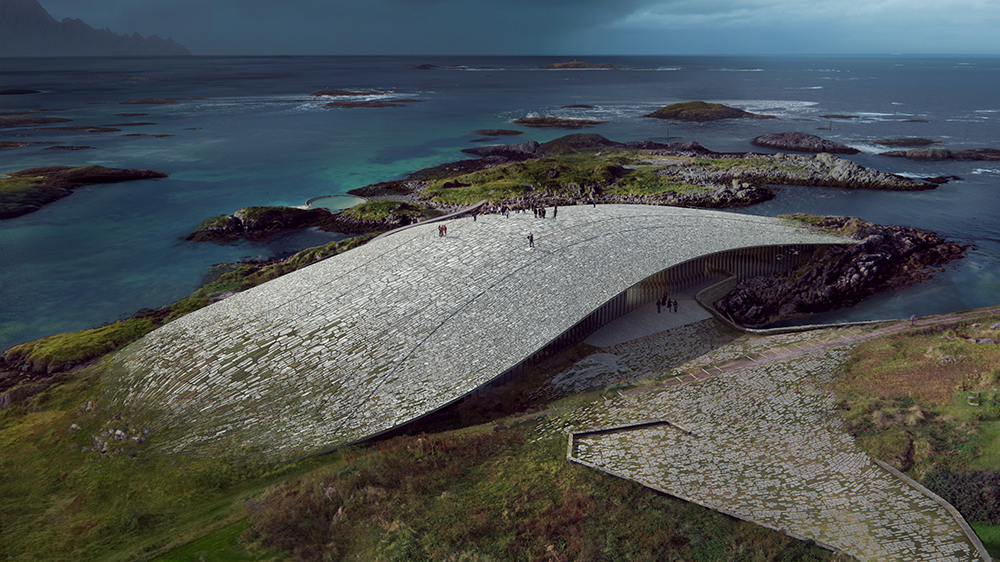 A rendering of The Whale in Andenes