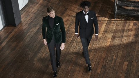 Thom Sweeney's decadent new line of evening wear