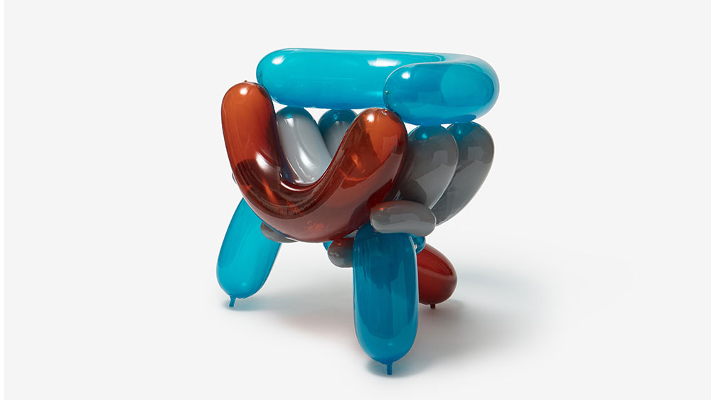Blue Red Blowing Armchair 3 by Seungjin Yang