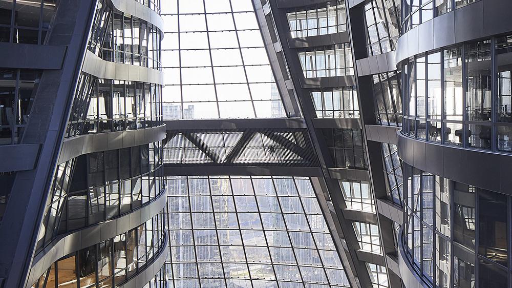 Inside the Leeza SOHO tower