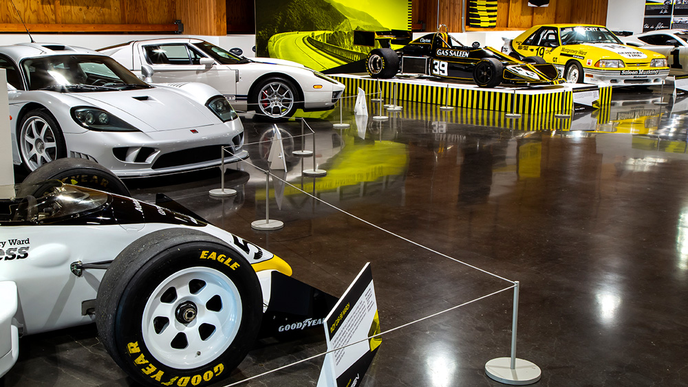 The Steve Saleen retrospective at the LeMay Auto Museum.