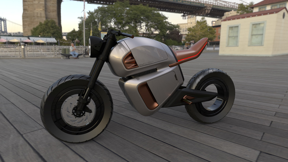The NAWA Racer electric motorcycle concept.
