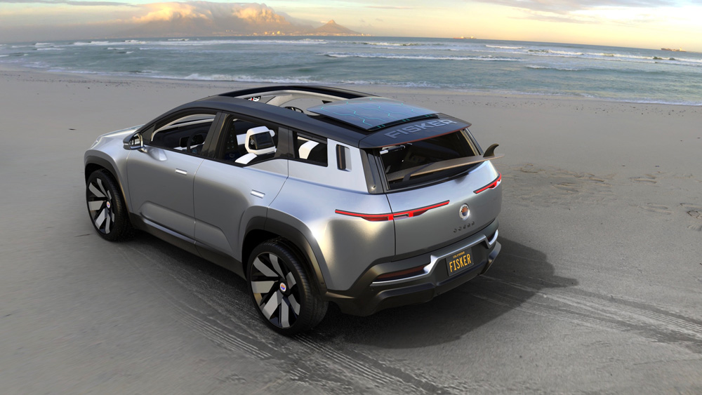 The Fisker Ocean Electric SUV.