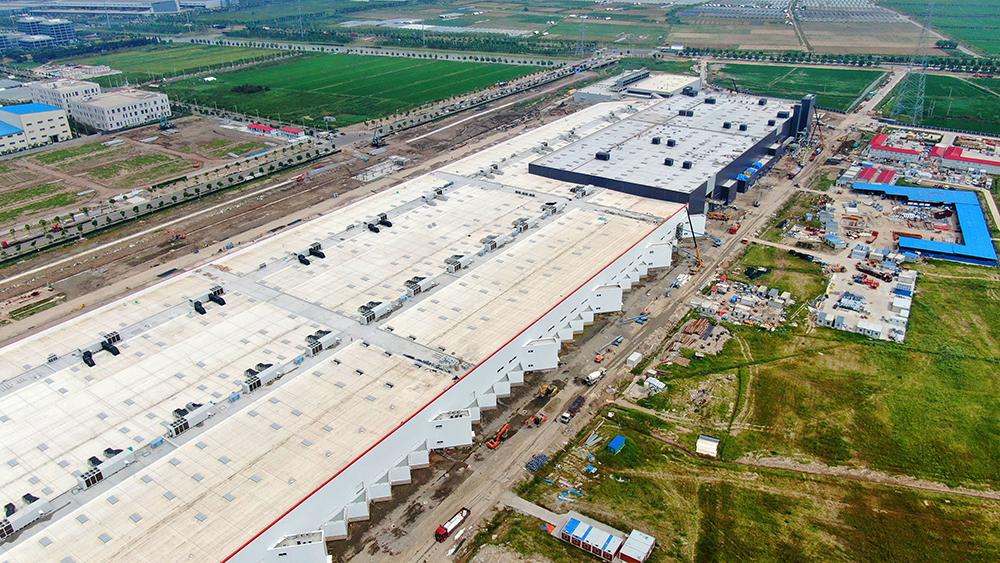 Tesla Gigafactory in Shanghai, China