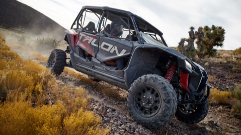 The Honda Talon 1000X-4 Fox Live Valve.