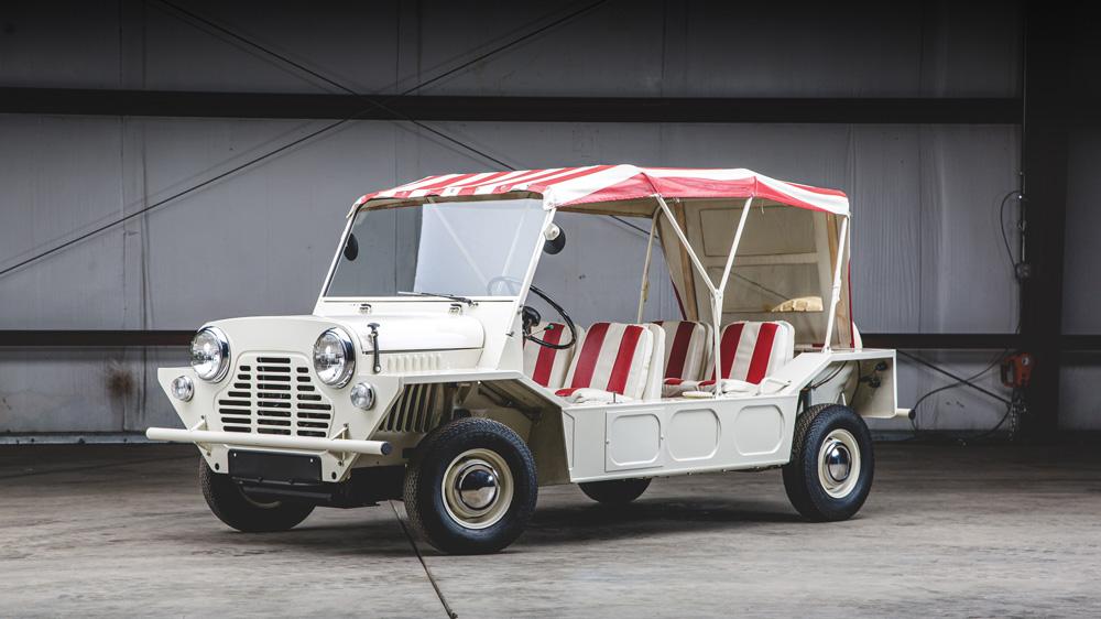 A 1967 Austin Mini Moke.