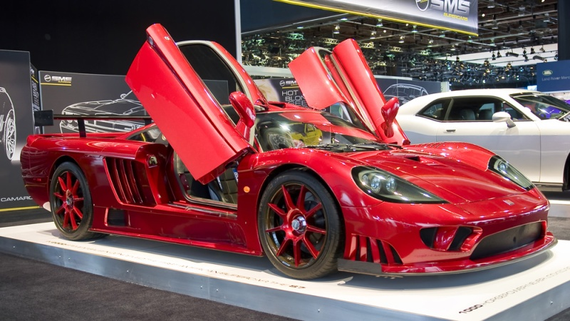 The Saleen S7 on display at the North American International Auto Show in 2010.