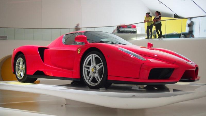 A Ferrari Enzo on display in Modena, Ital