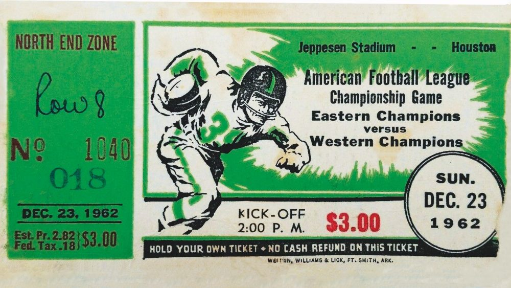 December 23, 1962: A ticket from the longest pro championship game.