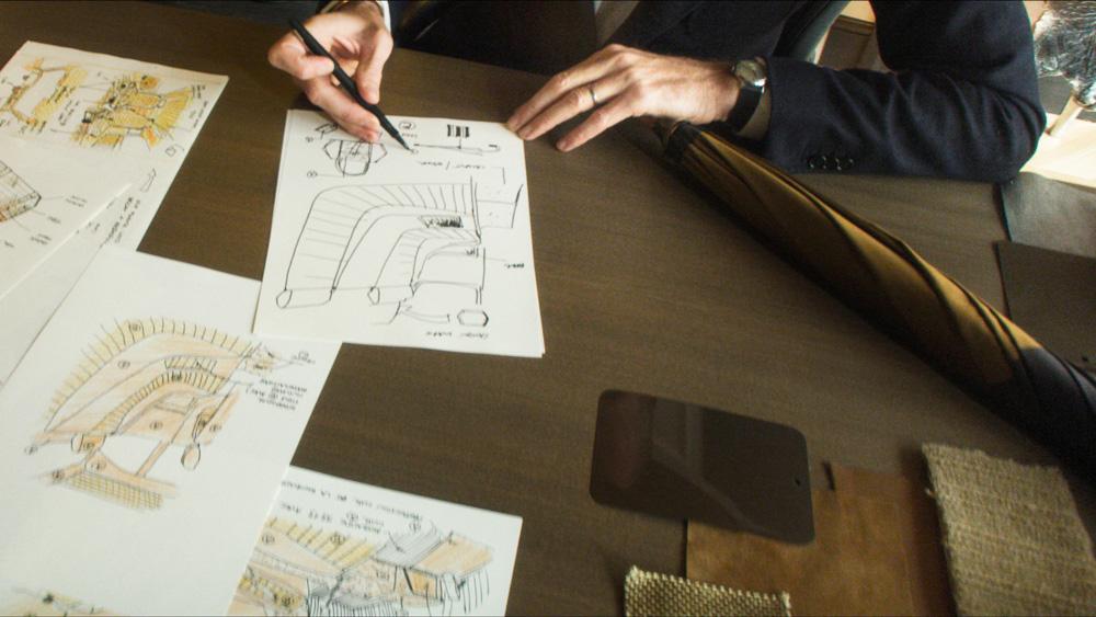 Interior designer Tristan Auer at work.