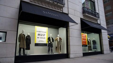 Barneys' storefront