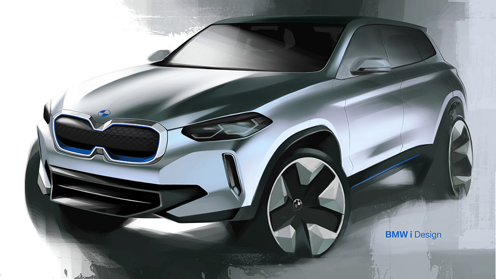 Concept art for the BMW iX3