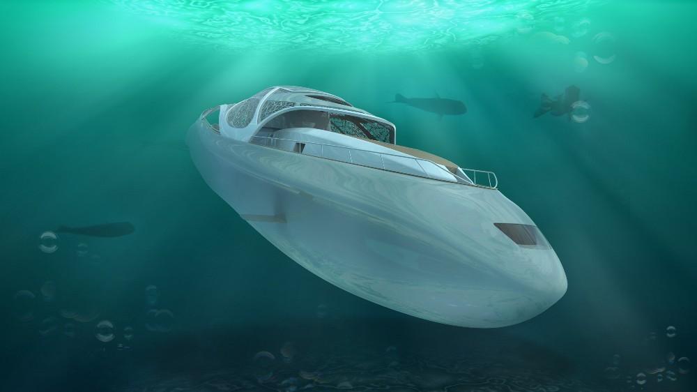 Elena Nappi's 'Carapace' superyacht concept