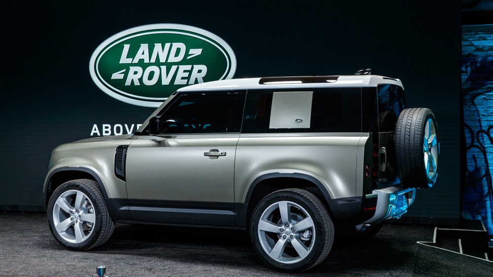 The new Land Rover Defender.