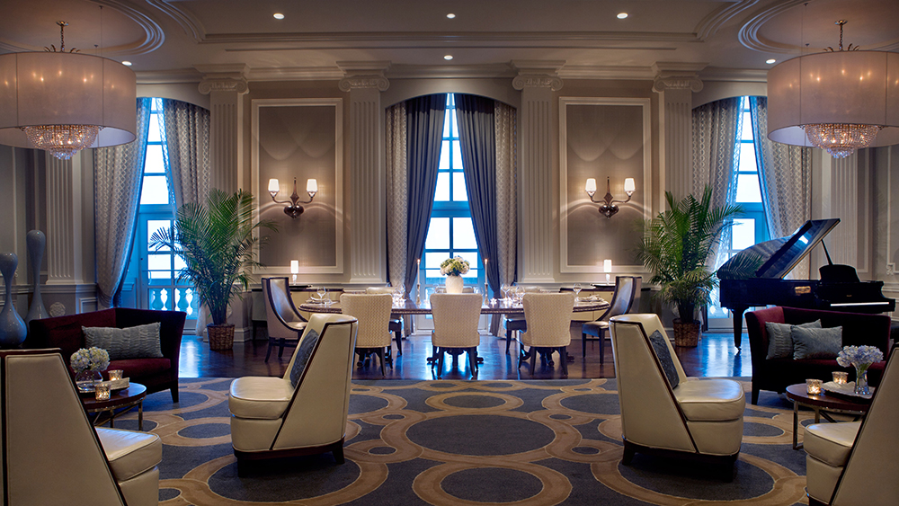 The Conrad Suite's dining room