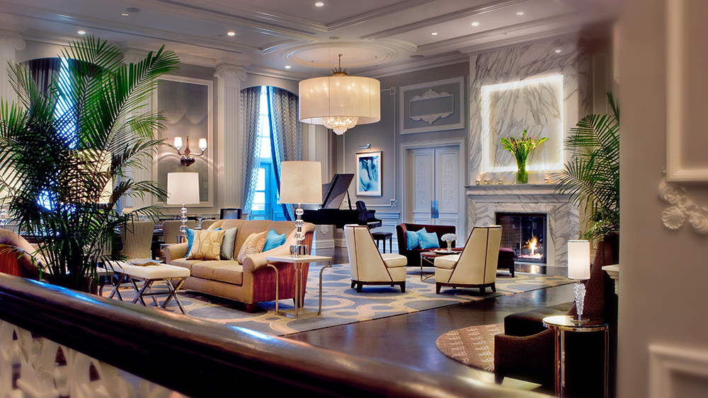 The Conrad Suite's living room