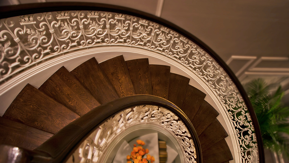 The Conrad Suite's stairs
