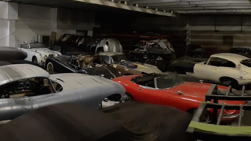 A collection of vintage Jaguars was found in a greenhouse in Beaulieu, England