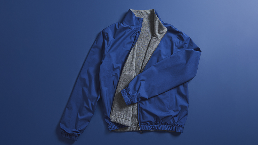 Loro Piana's Bomber Windmate works blue (or gray)