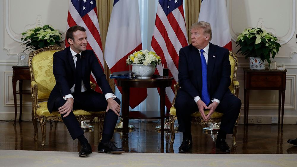 Trump and Macron at NATO, London, 2019