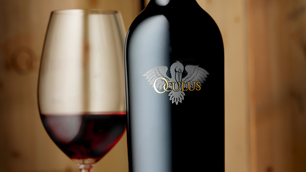 A bottle of Oculus from Mission Hill Family Estate