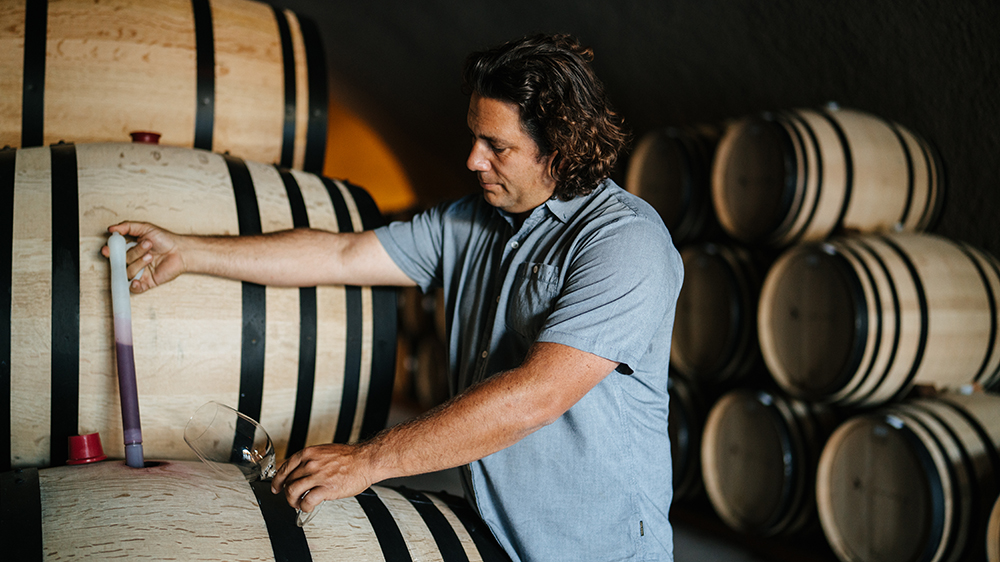 Wine consultant Julien Fayard on the job