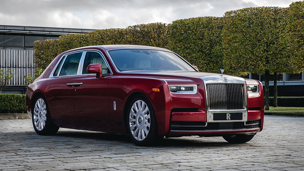 The Rolls-Royce RED edition up for auction at Sotheby's