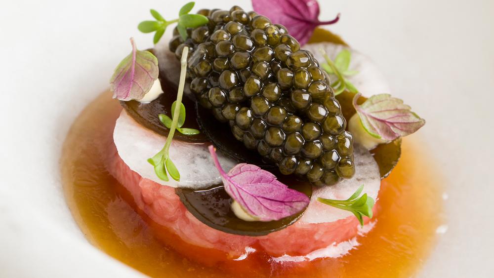 Feitoria caviar tuna fine dining