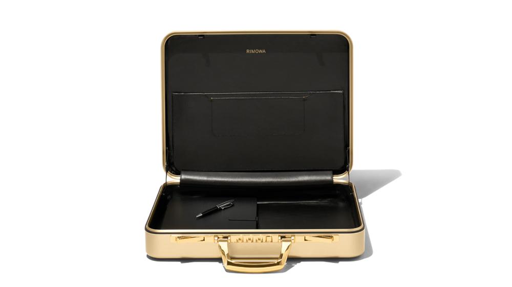The RIMOWA Gold Attaché Briefcase