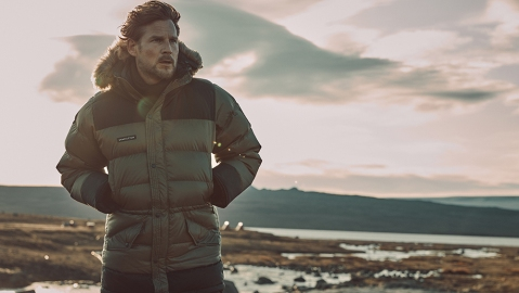 Shackleton London's Endurance Lightweight Parka in the field.