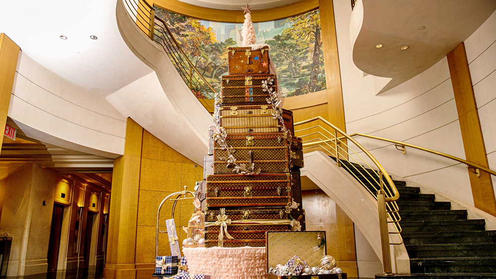 Sofitel New York Louis Vuitton Trunk Christmas Tree