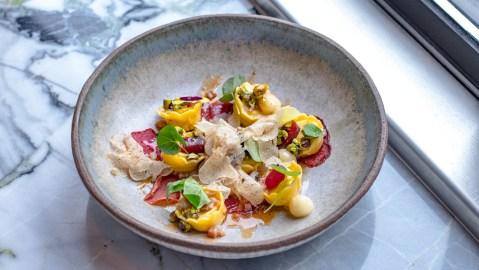Sorrel, Cappelletti pasta plum truffle