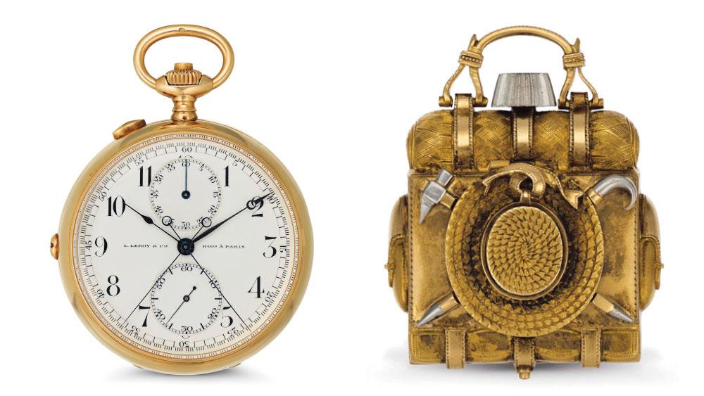 """Hemingway's Pocket Watch, Patek Philippe """"Backpack"""" Watch"""