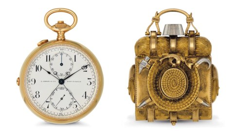 "Hemingway's Pocket Watch, Patek Philippe ""Backpack"" Watch"
