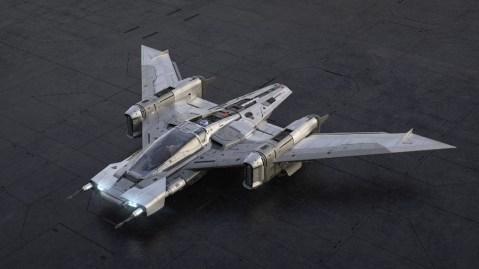 The Porsche X Star Wars Tri-Wing S-91x Pegasus Starfighter