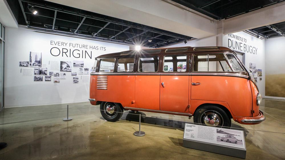 The Petersen Automotive Museum's Building an Electric Future exhibit.