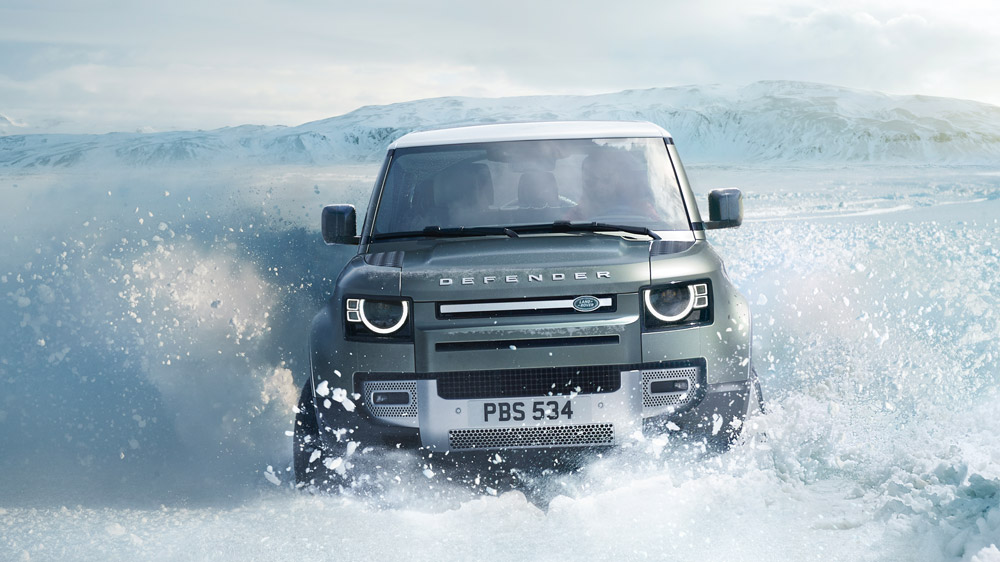 The 2020 Land Rover Defender.