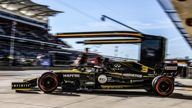 The Renault F1 team at the United States Grand Prix in Austin, Tex.