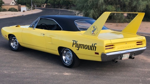 A 1970 Plymouth Superbird.